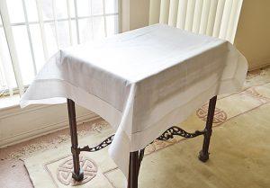 Winter White Linen Topper