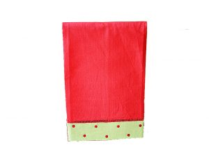 festive red green red dot guest towel