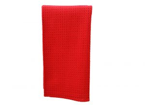 Red Wafle Weave Kitchen Towel