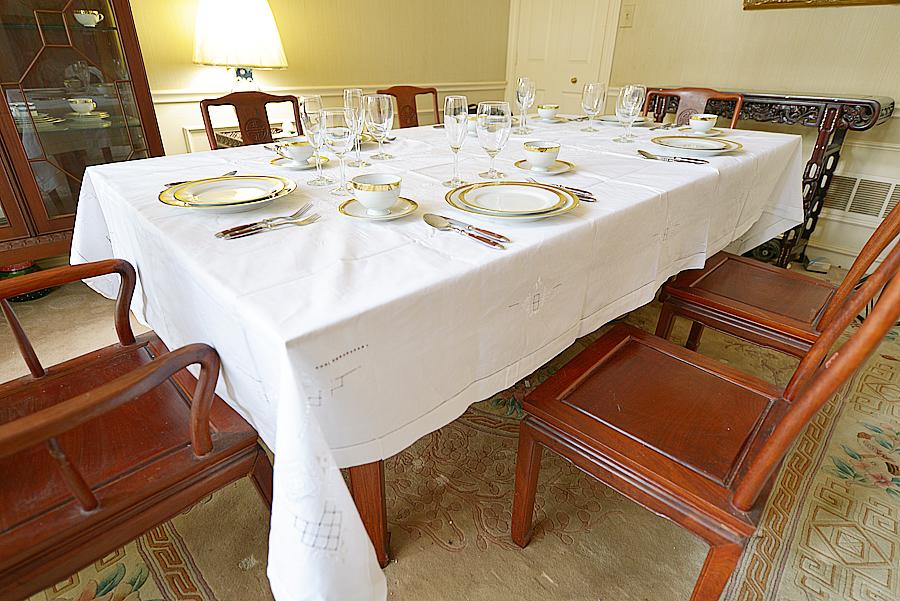 fancy hemstitch tablecloth