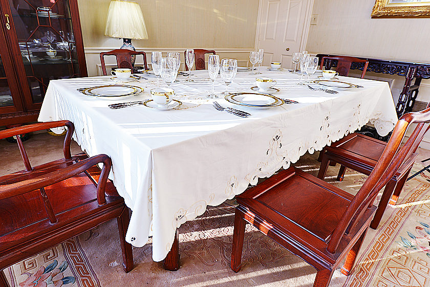 Embroidered Tablecloth, Rectangular Tablecloth